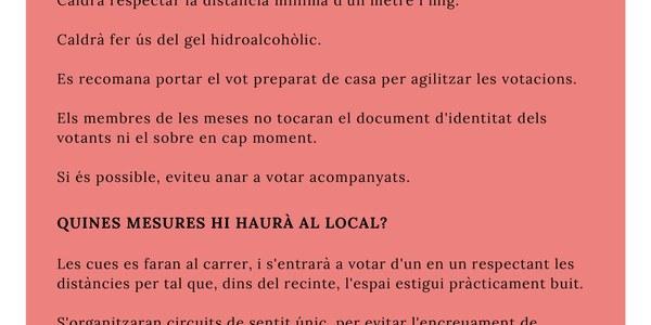 COMUNICAT SOBRE LES ELECCIONS DEL 14F A CERVIÀ
