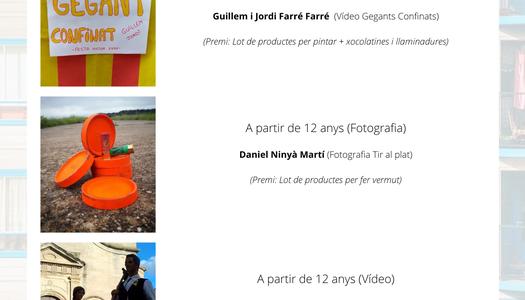 Guanyadors concurs Festa Major Sant Isidre 2020