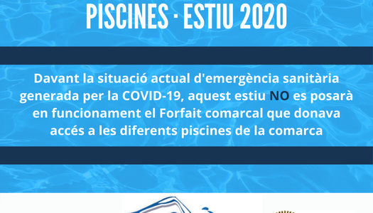 INFORMACIÓ FORFAIT PISCINES 2020