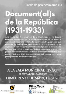 DOCUMENTALS DE LA REPÚBLICA