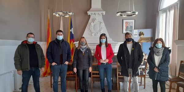 Visita de la comitiva d'ERC a Cervià