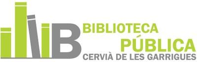 Escut Biblioteca Pública de Cervià de les Garrigues.