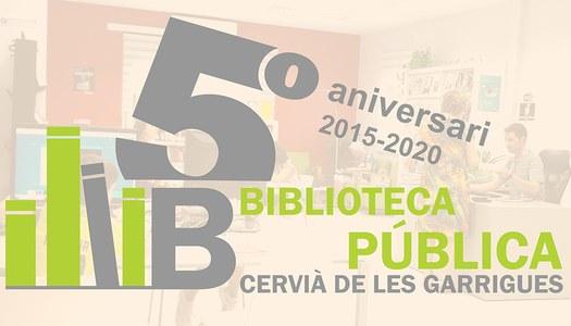 5è ANIVERSARI BIBLIOTECA DE CERVIÀ