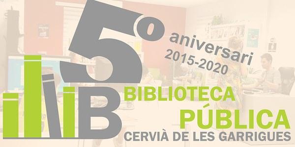 LOGO BIBLIOTECA 5è ANIVERSARI