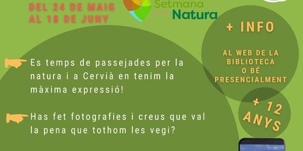 Concurs de Fotografia de la Setmana de la Natura